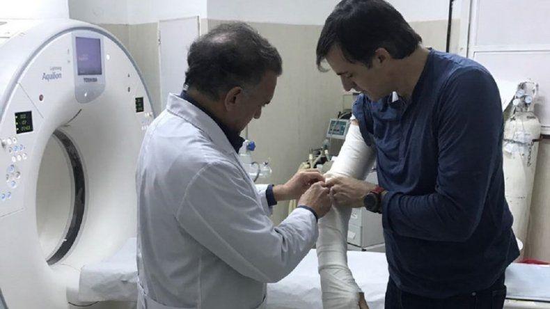 Esteban Bullrich se accidentó en un acto de campaña