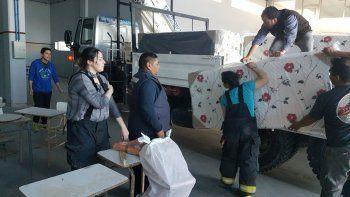 petroleros jerarquicos dono colchones para el cuartel  central de los bomberos