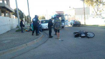 una joven resulto herida en un accidente en el pueyrredon