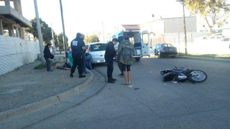 Una joven resultó herida en un accidente en el Pueyrredón