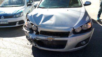 un hombre resulto herido en la cabeza tras un accidente
