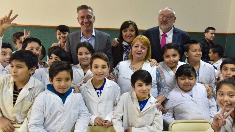Arcioni presidió la inauguración de la ampliación de la Escuela 218