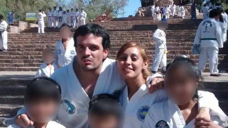 Daniel Zalazar Quiroga junto a su expareja Claudia Arias