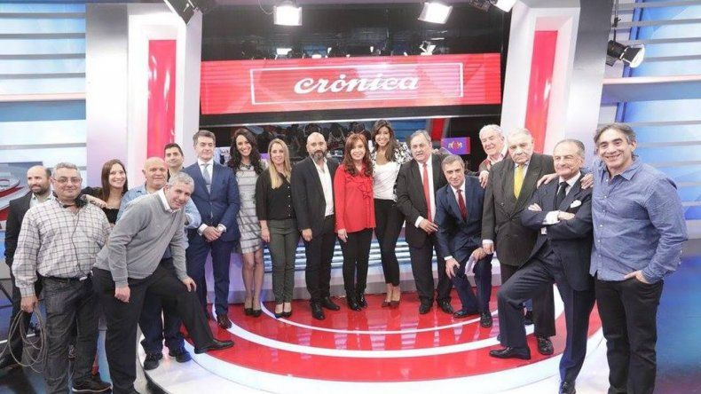 Cristina brindó un show televisivo en plena campaña