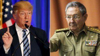 Donald Trump se enfrenta ahora con el gobierno de Raúl Castro.