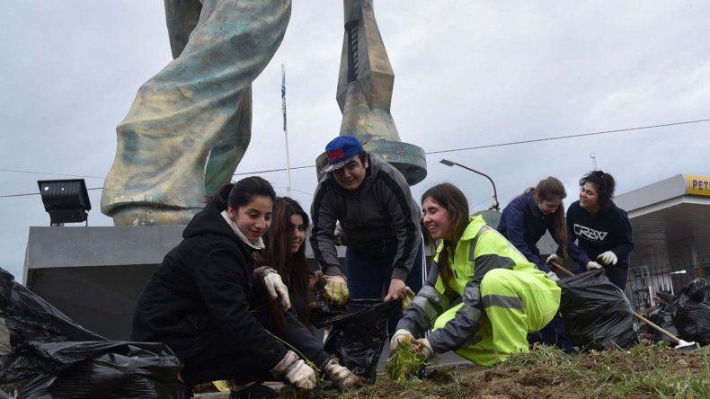 El grupo juvenil tomó la iniciativa de realizar varias acciones comunitarias