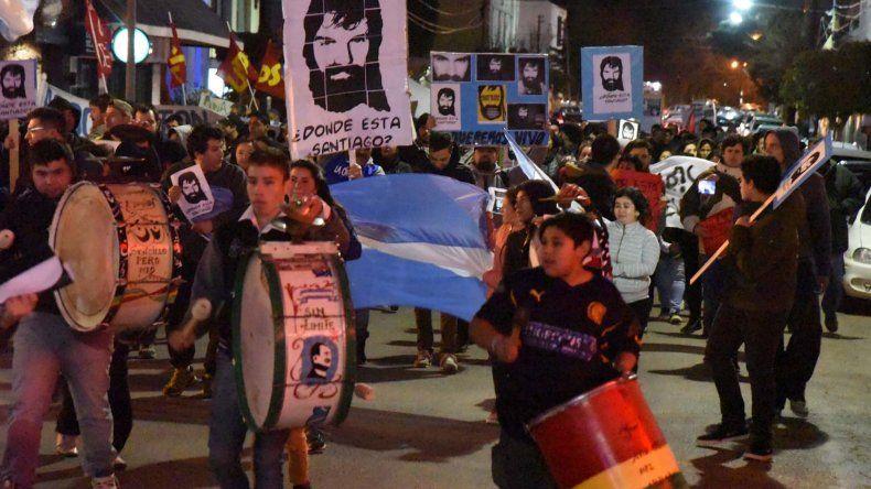 La marcha que se realizó el 1 de septiembre por las calles céntricas de Comodoro Rivadavia.