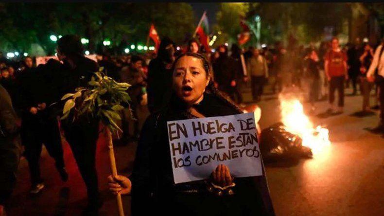 Las protestas de comunidades mapuches para exigir la liberación de los detenidos.
