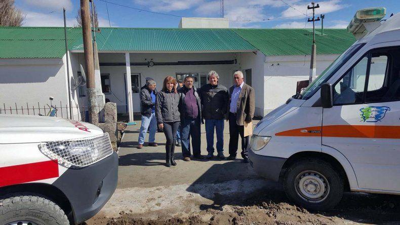 El refaccionado centro sanitario de la localidad.