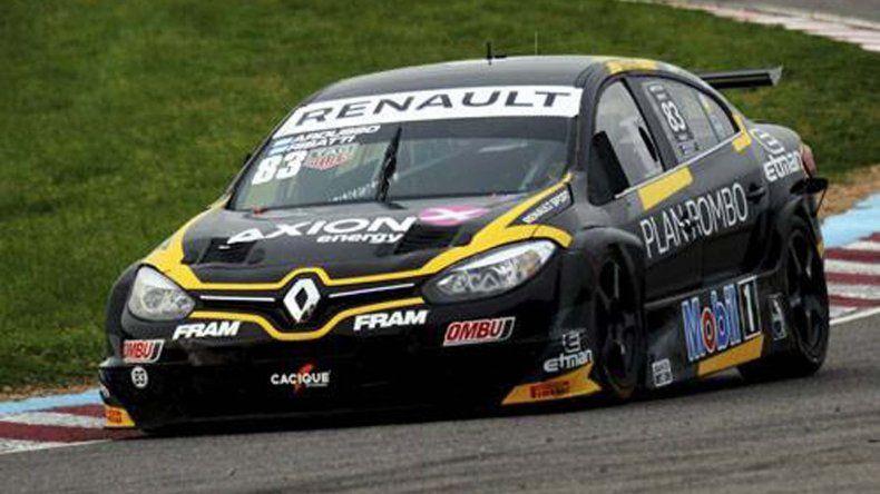 El Renault Fluence de Facundo Ardusso-Ricardo Risatti que dominó ayer en la clasificación del Super TC2000.