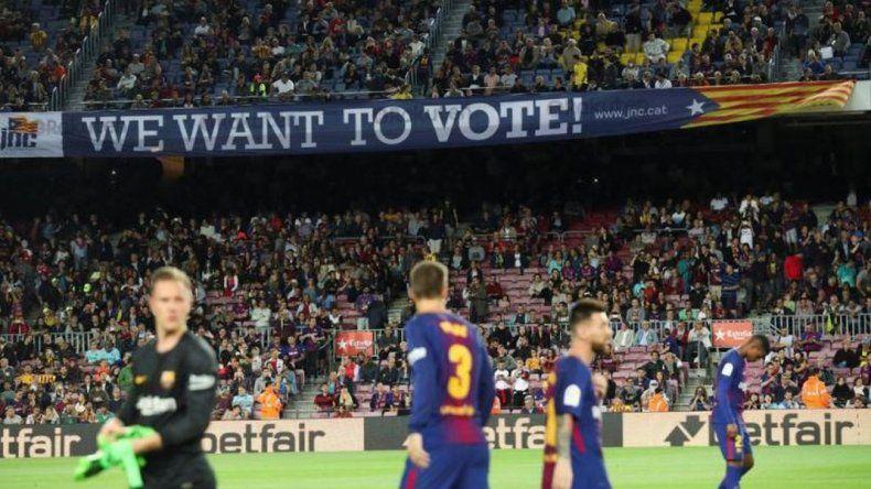 Por los incidentes en Cataluña, Barcelona juega a puertas cerradas