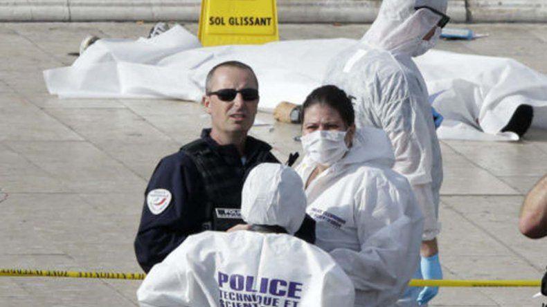 El cuerpo del atacante abatido en Marsella.