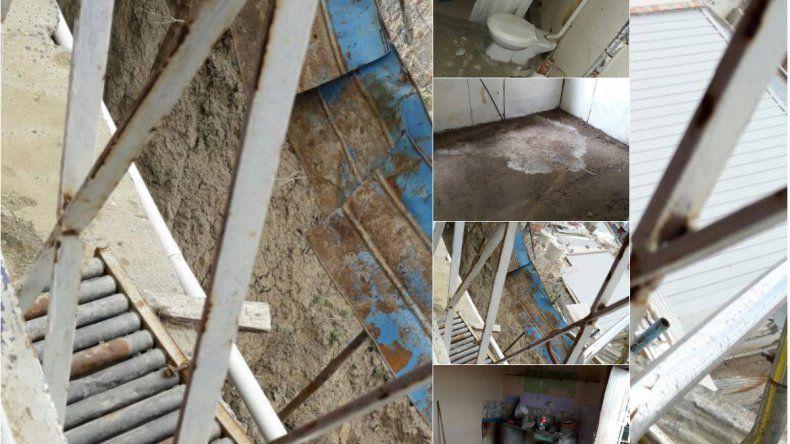 A más de seis meses del temporal su casa sigue colgada