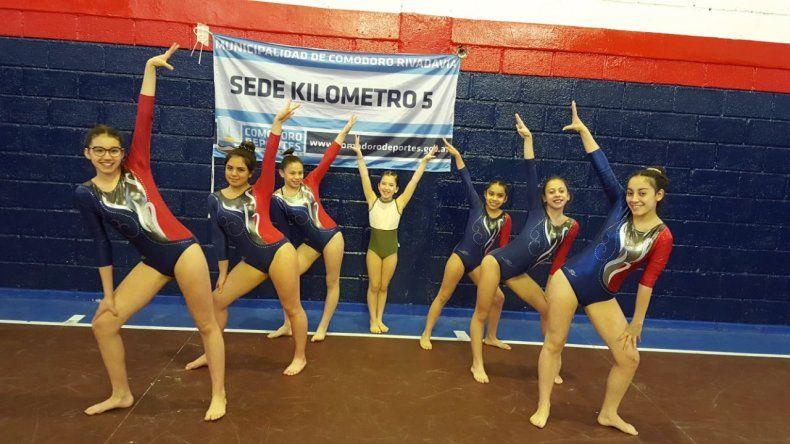 Siete gimnastas comodorenses viajaron a Jujuy