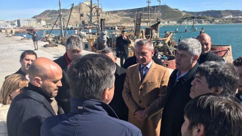 Con la presencia de Dietrich y Buryaile se recorrieron ampliaciones en el puerto