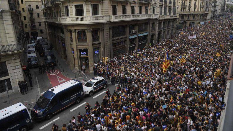 La masiva movilización que se desarrolló ayer en Barcelona y que se replicó en toda Cataluña.