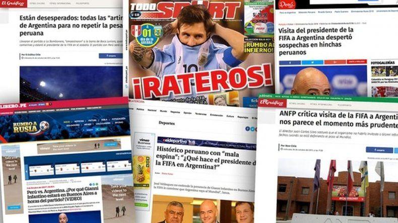 Desde Perú y Chile denuncian que el partido está arreglado