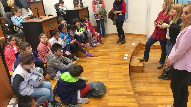 Los alumnos de la Escuela 197 visitaron el Concejo Deliberante