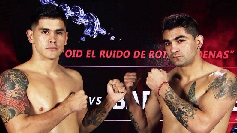 El santacruceño Adrián Verón –izquierda– y el catamarqueño Miguel Barrionuevo realizarán esta tarde el pesaje para la pelea de mañana.