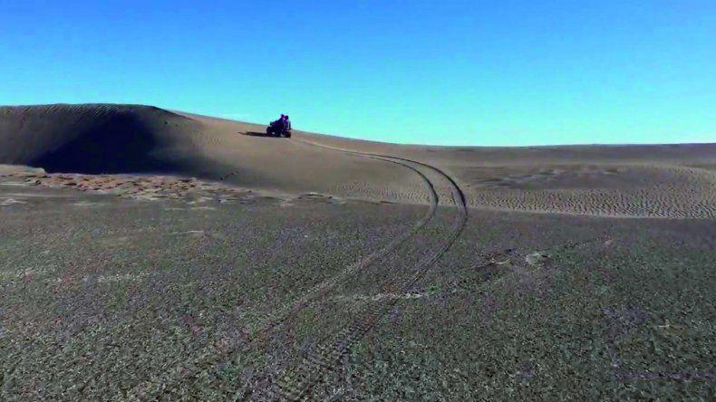Donde antes había un lago ahora reina el desierto.