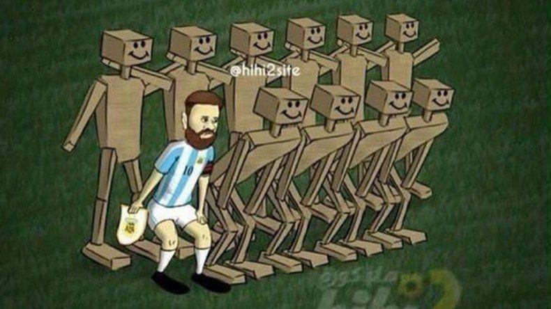Los memes por el empate de Argentina