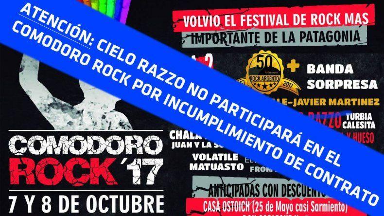 Comodoro Rock: lamentablemente hay gente así organizando eventos