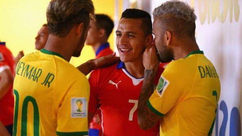 Hinchas de Chile y Brasil contra Argentina