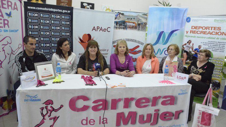 La presentación de la Carrera de la Mujer se realizó el último viernes.