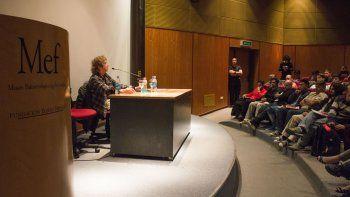 El músico Raúl Porchetto brindó el miércoles una charla sobre composición y rock nacional.