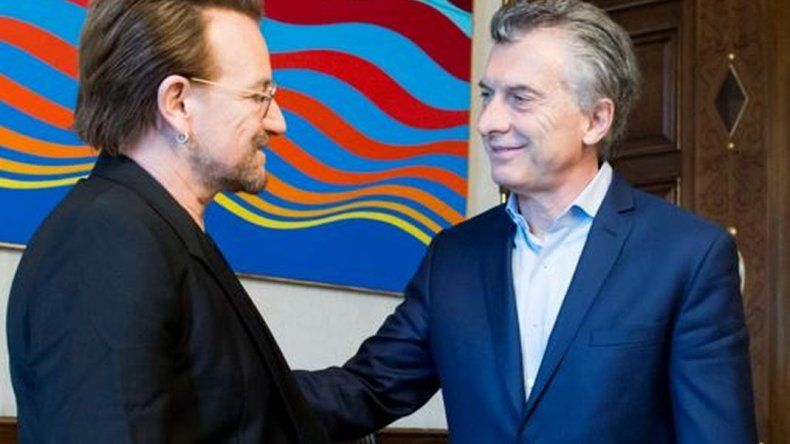 Macri recibió a Bono en la Casa Rosada