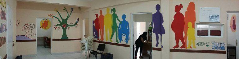 Foto:Último trabajo realizado en el Centro de Salud del barrio San Martín.
