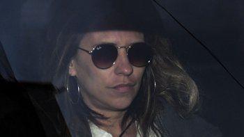 Inés Dávalos Cornejo al retirarse el viernes de Tribunales.