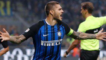 Retorno por partida triple, para Mauro Icardi que fue protagonista en el triunfo del Inter ante el Milan.
