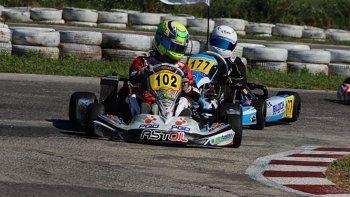 El kárting del radatilense Lorenzo Astiz que el fin de semana terminó segundo en la última fecha de la Copa Rotax.