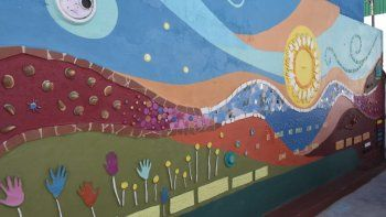 inauguraron un mural para personas no videntes