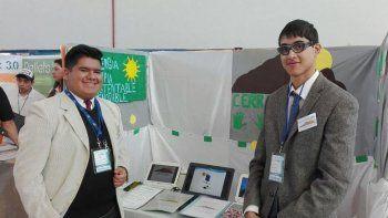 El proyecto de los alumnos de la Escuela 732 de Laprida, Nahuel Pavón y Gabriel Almonacid, sobre energías renovables, fue uno de los seleccionados para representar a Chubut en la instancia nacional de Muestra de Emprendedorismo Escolar.