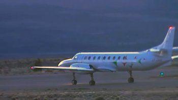 partio de esquel a buenos aires el avion con el cuerpo hallado en el rio chubut