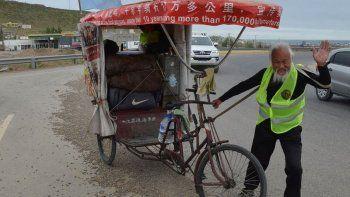 el raidista chino que recorria el mundo murio atropellado