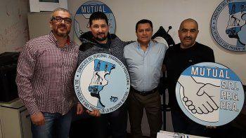 El delegado de la seccional Tierra del Fuego de Petroleros Jerárquicos, Fernando Pozo, visitó la sede central del gremio en Comodoro Rivadavia.
