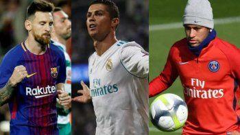 messi, ronaldo y neymar compiten por el premio the best