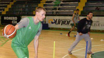 Paul Jesperson ya se entrena en el plantel de Gimnasia y Esgrima de Comodoro Rivadavia.