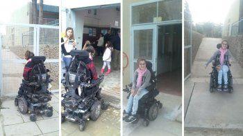 Foto: En las dos primeras fotos se observa la situación vivida el 13 de agosto en las PASO mientras que las últimas dos se ve la sonrisa de la joven por haber podido votar sin problemas.