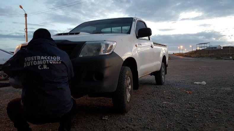 Secuestraron una camioneta con la patente adulterada