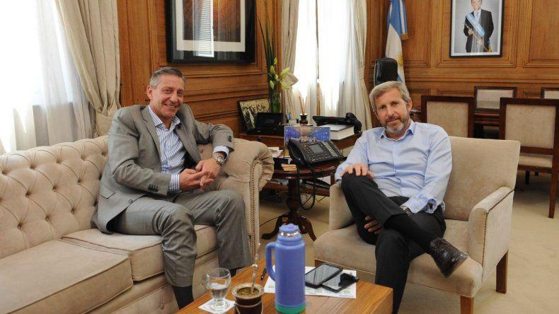 Arcioni se reunió con Frigerio en Casa Rosada