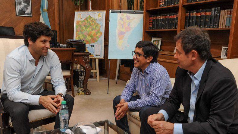 El encuentro que Aybar y Costa mantuvieron en Buenos Aires con García de Luca.