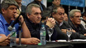 La conferencia de prensa que ofreció ayer el triunvirato que encabeza la Confederación General del Trabajo.