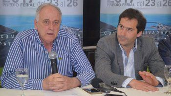 Alberto Hroncich y Juan Pablo Luque durante la presentación.