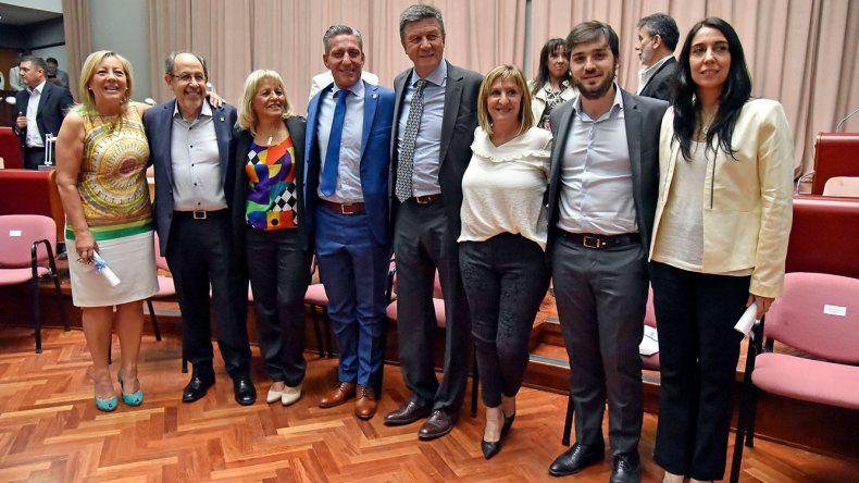 Los diputados electos el 22 de octubre recibieron el diploma que los acredita como representantes de Chubut en el Congreso nacional.