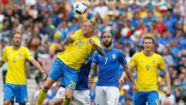 Suecia se impuso ante Italia en el partido de ida jugado en Estocolmo.
