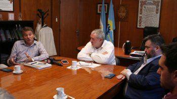 Empresarios de la construcción y directivos del Banco Chubut ratificaron que mantienen una relación armónica.